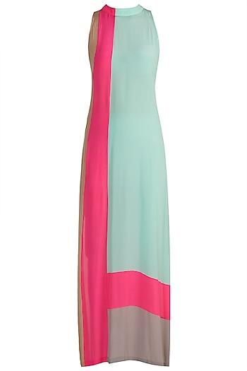 Multi Colored Sleeveless Tunic by Manish Malhotra