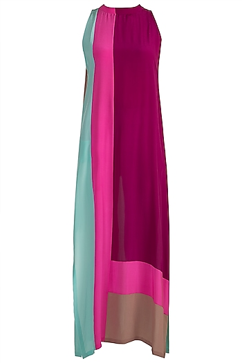 Multi Colored High Neck Tunic by Manish Malhotra