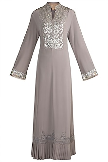 Grey Embroidered Tunic by Manish Malhotra
