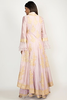 Lavender Embroidered Anarkali Set by Manish Malhotra