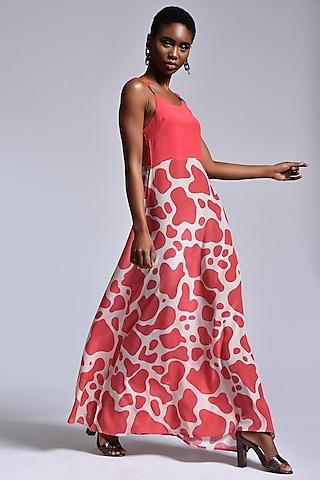Chalk & Coral Slip Dress by Marichi