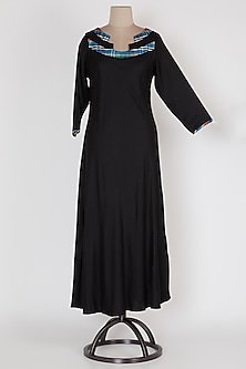 Black Maxi Dress by Mayank Anand & Shraddha Nigam