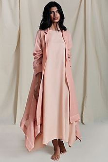 Peach Linen Jacket by Mati