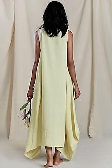 Yellow Cowl Dress by Mati
