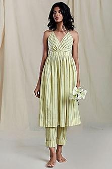 Yellow Printed Dress by Mati
