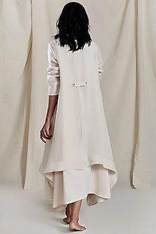 Beige Linen Jacket by Mati