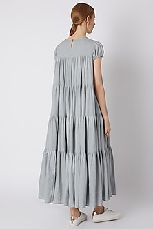 Light Blue Tiered Maxi Dress by Mati
