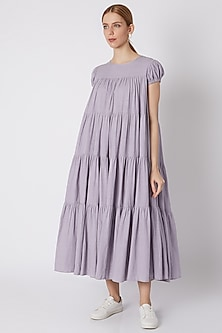 Lavender Tiered Maxi Dress by Mati