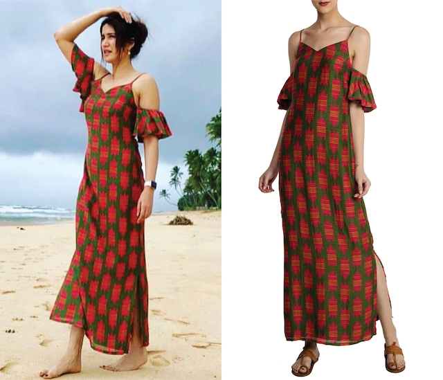 Olive and Red Nile Croc Print Maxi Dress by Masaba
