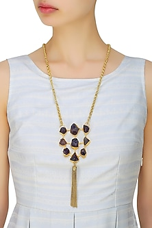 Rough natural textured stones chunky necklace by Maira