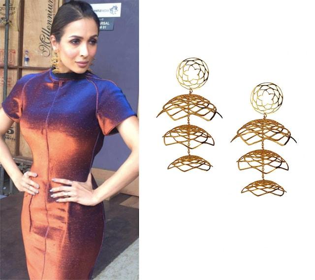 Lotus fractal jhumka earrings by Eina Ahluwalia