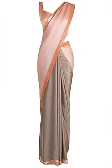 Multi Colored Sequins Saree Set by Manish Malhotra
