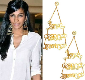 Love.Respect.Protect Earrings by Eina Ahluwalia