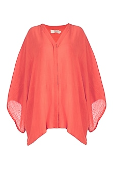Coral Kaftan Top by Mati