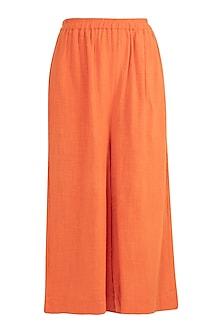 Orange Culottes Pants by Mati