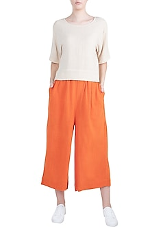 Orange Culottes Pants by Mati