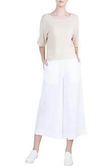 White Culottes Pants by Mati