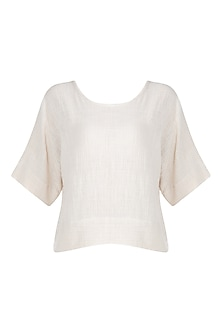 Ivory Khadi Crop Top by Mati