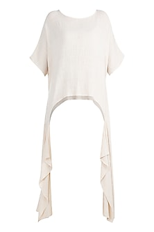 Ivory Asymmetric Bohemian Top by Mati
