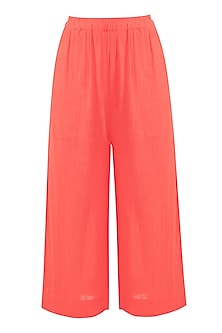 Coral Khadi Pants by Mati