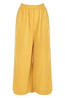 Yellow Khadi Pants by Mati