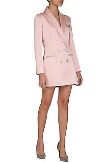 Blush Pink Blazer Dress by Mani Bhatia