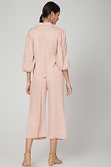 Peach Silk Viscose Rosa Pants by Meadow