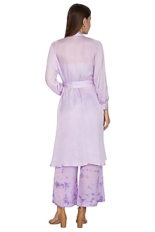 Violet Tie-Dye Pants With Tunic, Inner & Belt by Meadow