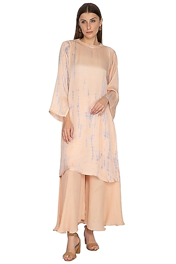 Peach Tie-Dye Tunic With Pants & Inner by Meadow