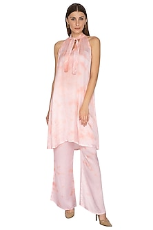 Blush Pink Tie-Dye Tunic With Pants by Meadow