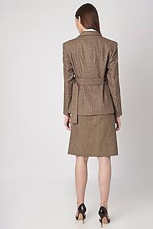Brown Highland Tweed Jacket by Meadow
