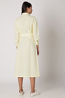 Yellow Daffodil Buttoned Dress by Meadow