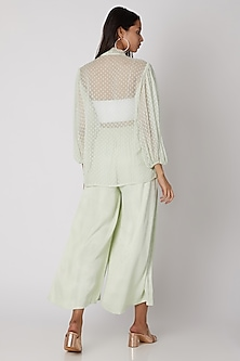 Mint Green Sheer Top by Meadow