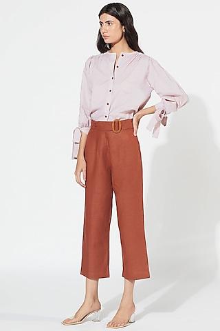 Violet & Rust Pant Set by Meadow