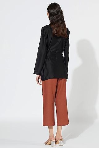 Black & Rust Jacket Set by Meadow