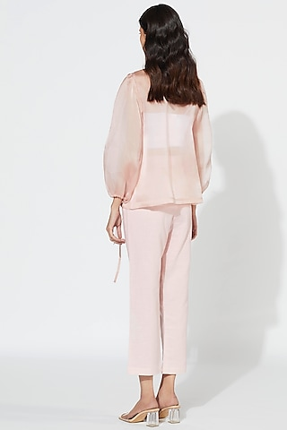 Blush Pink Tie-Up Jacket by Meadow