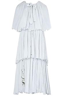 Dainty Blue Frill Dress by Meadow