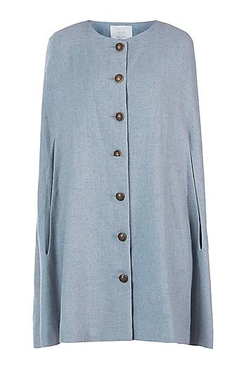 Dainty blue cape coat by Meadow