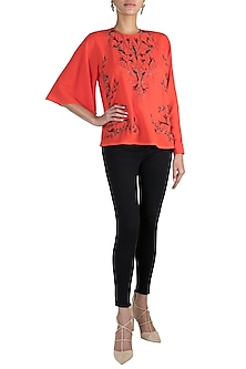 Coral Embroidered Top by Gavin Miguel
