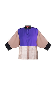 Multi Colored Georgette Shirt by Gavin Miguel