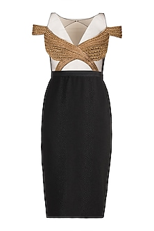 Black & Gold Cocktail Dress by Gavin Miguel