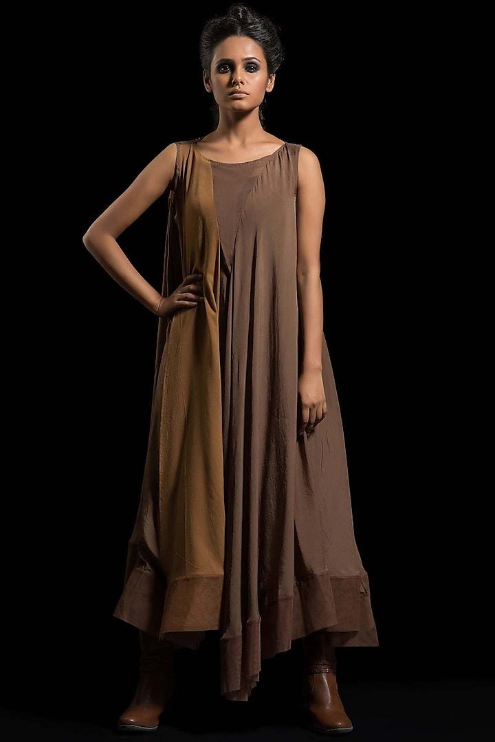 Brown Kurta Dress by Megha Garg