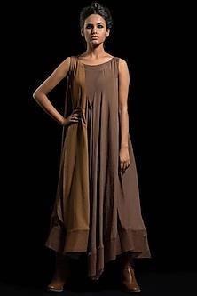 Brown Kurta Dress by Megha Garg-MEGHA GARG