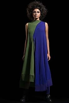 Red & Grey Kurta Dress by Megha Garg-MEGHA GARG