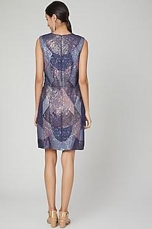 Cobalt Blue Embroidered Dress by Megha Garg