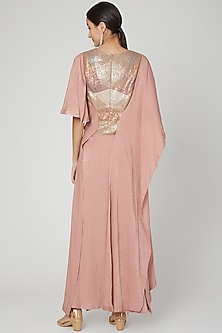 Blush Pink Embroidered Quilted Dress by Megha Garg