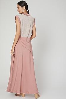 Blush Pink Embroidered Dress by Megha Garg