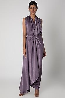Light Purple Draped Gown by Megha Garg