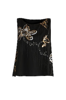 Black Embroidered Top by Gavin Miguel