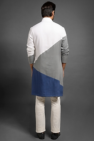Multi Colored Kurta With Side Opening by Mitesh Lodha